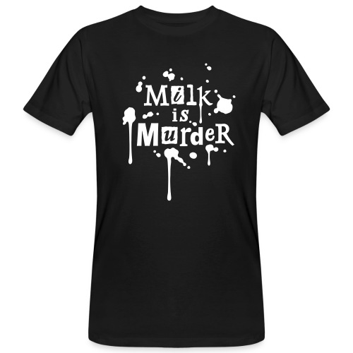 Mens BIO-Shirt 'MILK is Murder' BL - Männer Bio-T-Shirt