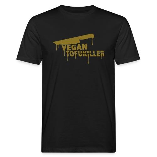 Mens BIO 'VEGAN TOFUKILLER 01' GOLD - Männer Bio-T-Shirt