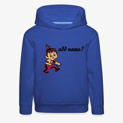 Kid Billy as a native Indian - Kids' Premium Hoodie