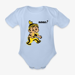 Cute Little indian hero - Organic Short-sleeved Baby Bodysuit