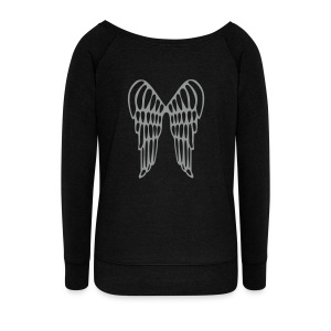 wings are not only for angels! - Women's Boat Neck Long Sleeve Top