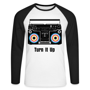 Mens Long Sleeved Top With Retro Boombox - Men's Long Sleeve Baseball T-Shirt