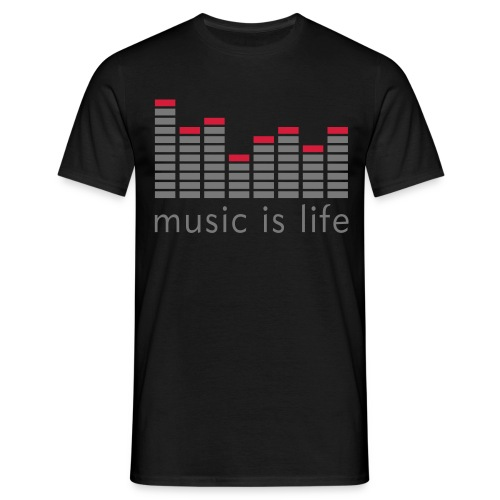 Music is live Black - Mannen T-shirt