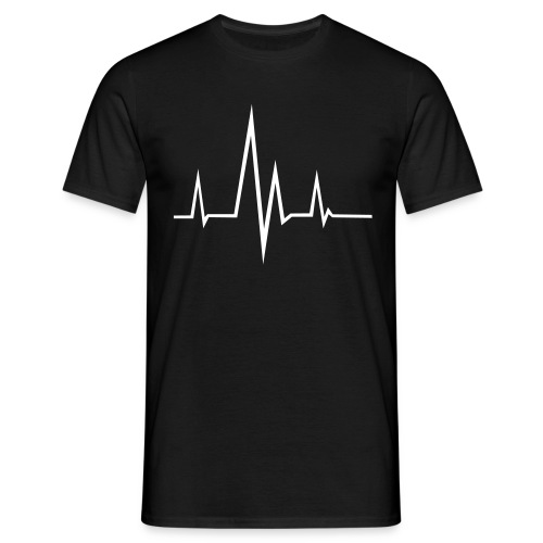 hart beat black normal t-shirt - Mannen T-shirt