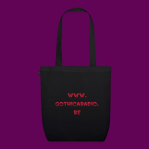 Bag black with logo Gothicaradio - EarthPositive Tote Bag
