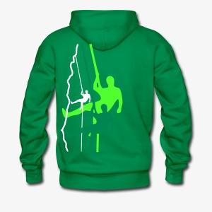 Drei Abseiler - grün (men) - Männer Premium Hoodie
