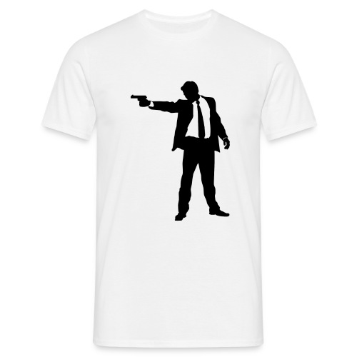 The lone gunman (vit, herr) - T-shirt herr