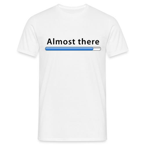 Almost there (vit, herr) - T-shirt herr
