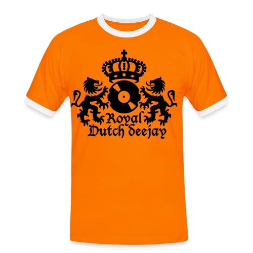 Mannen contrastshirt - Vier koninginnendag met dit fantistische shirt!!!!