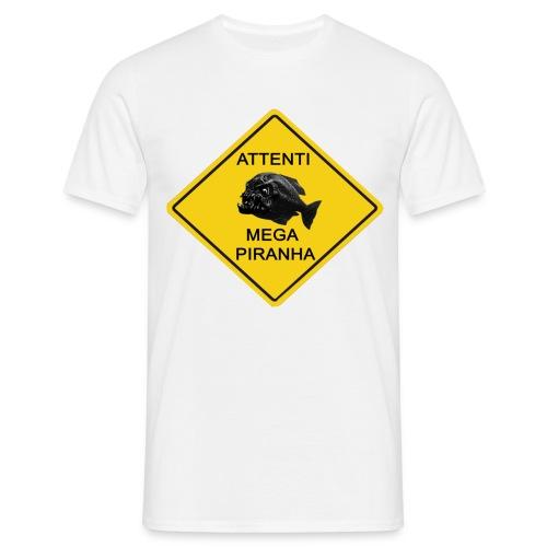 Mega Piranha (BIANCA) - Maglietta da uomo