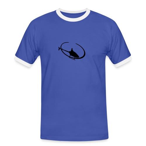 T-Shirt Hubschrauber - Männer Kontrast-T-Shirt
