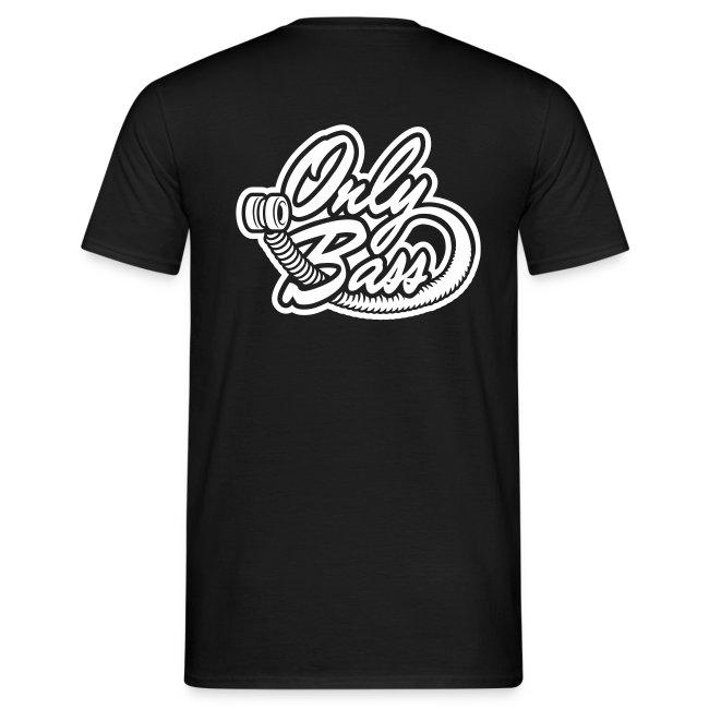 T-shirt Homme. Texte devant, logo OB derrière
