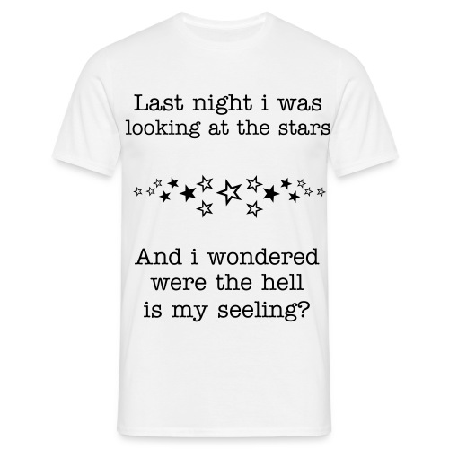 Looking at stars - Mannen T-shirt