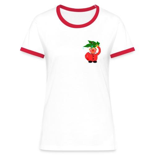 T-Shirt Bonhomme et feuille - T-shirt contrasté Femme