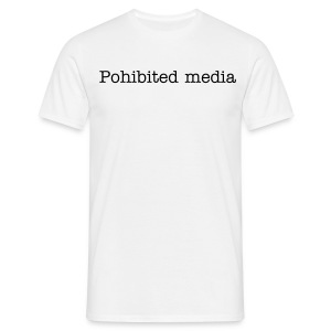 Prohibited text shirt - Men's T-Shirt