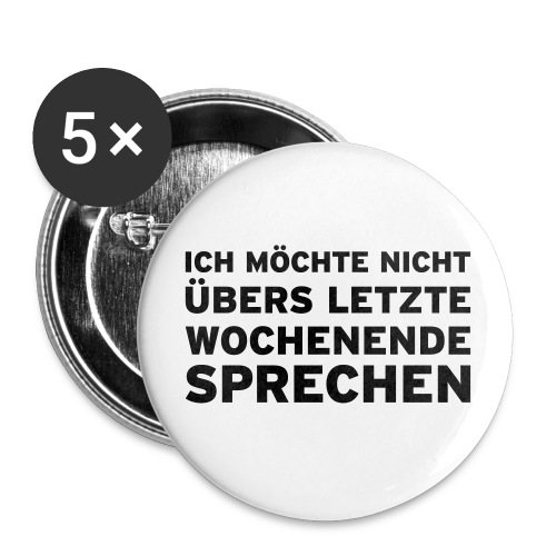 Stick for you - Buttons klein 25 mm (5er Pack)
