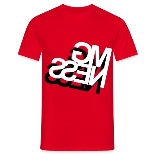 MGness DoubleLogo Red classic - Männer T-Shirt