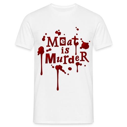 Meat is murder - Männer T-Shirt