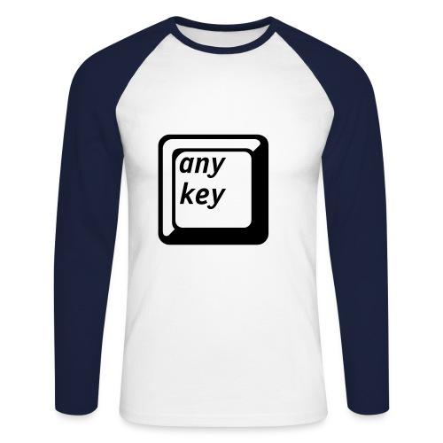 Longsleeve any key - Männer Baseballshirt langarm