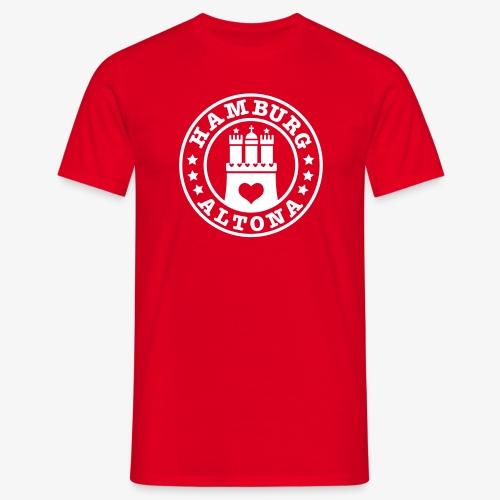 HAMBURG Altona - Hamburger Wappen Fan-Design HH Männer Shirt rot - Männer T-Shirt