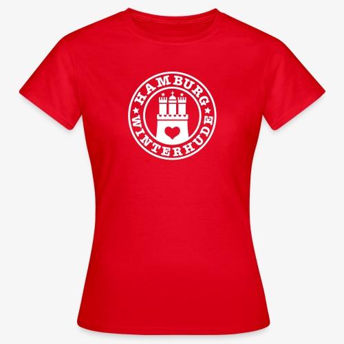 HAMBURG Winterhude - Hamburger Wappen Fan-Design HH Frauen Shirt rot - Frauen T-Shirt