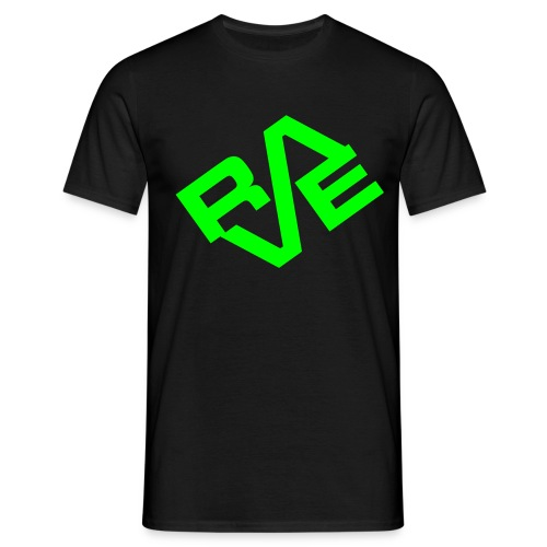 Rave Nero e Verde - Maglietta da uomo