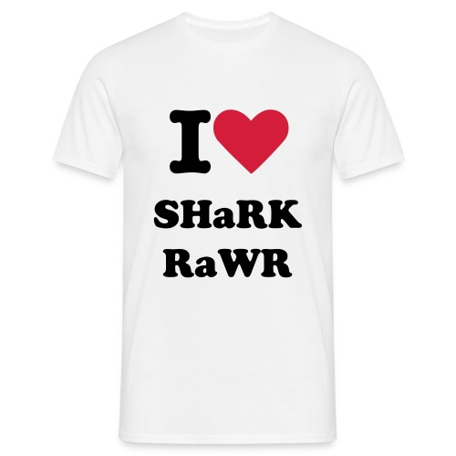I Heart Shark Rawr - Men's T-Shirt