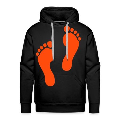 Foot Prints - Men's Premium Hoodie