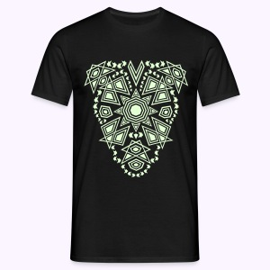 Tribal Sun Glow 2-side print - Mannen T-shirt