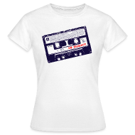 T-Shirts ~ Women's T-Shirt ~ Retro tape t shirt