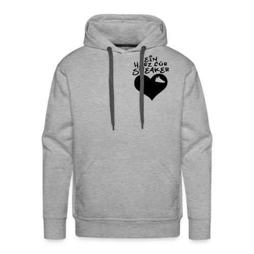 SneakerHeart Hoodie grey/black - Männer Premium Hoodie