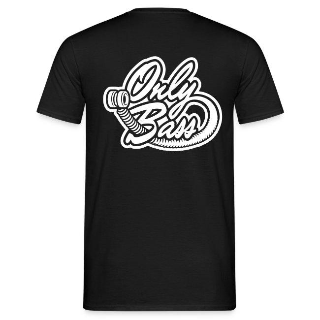 T-shirt classique. Texte devant, logo OB derrière.