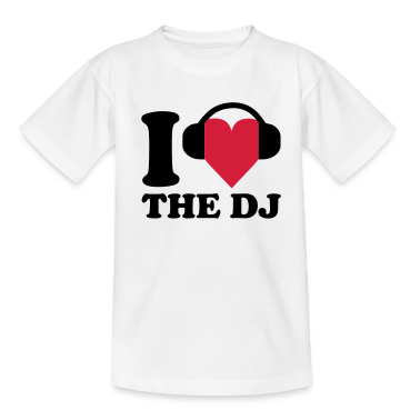 I love Music - DJ T-shirt bambini