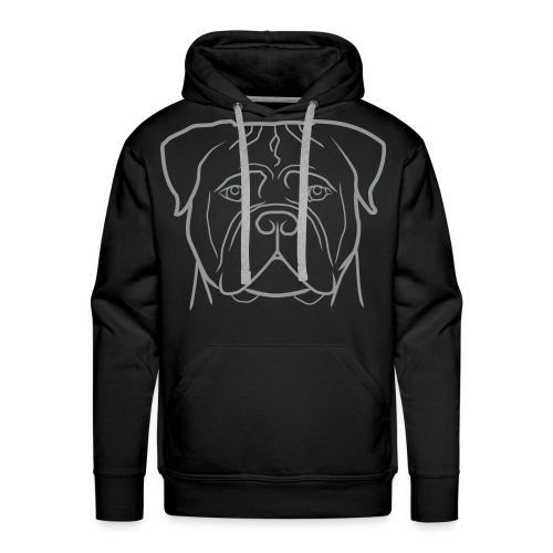 Uomo - Logo grigio + Manica dx (bullmastiff KIDS) - Felpa con cappuccio premium da uomo