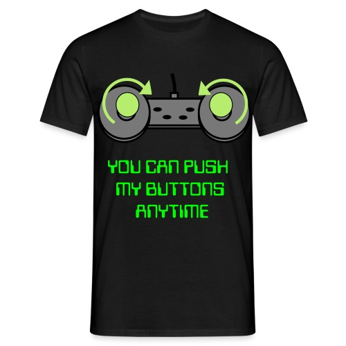 pushi'n my buttons - Men's T-Shirt