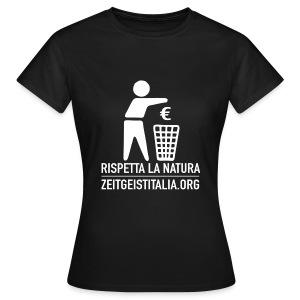Rispetta la natura for Z-girls - Maglietta da donna
