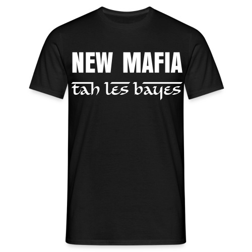 tee shirt  NEW MAFIA  officiel (black and white) homme - T-shirt Homme