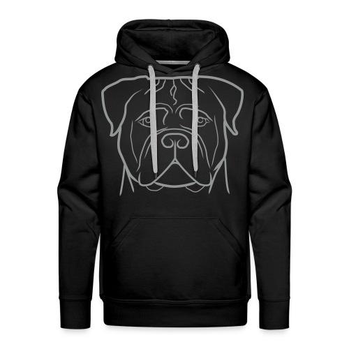 Uomo - solo logo grigio - Felpa con cappuccio premium da uomo