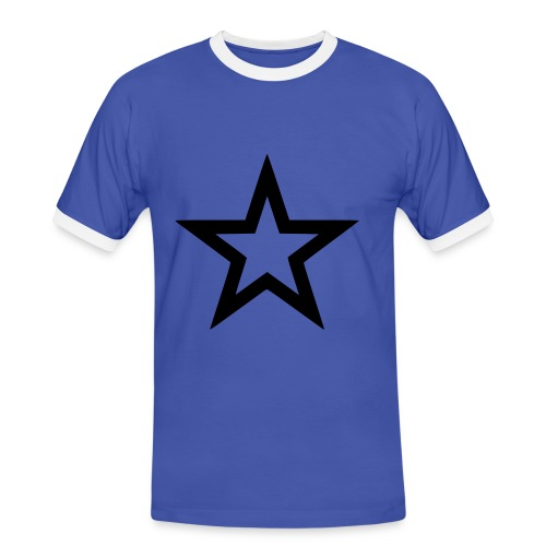 Star - Männer Kontrast-T-Shirt