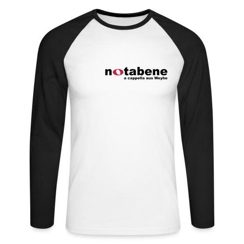 notabene Baseball Shirt langärmlig - Männer Baseballshirt langarm