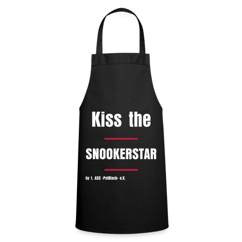 Kiss the Snookerstar - Kochschürze - Red Stripes - Kochschürze