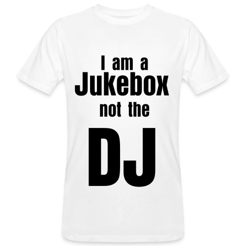 Im a jukebox white - Økologisk T-skjorte for menn