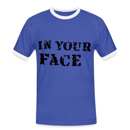 In your face - Herre kontrast-T-shirt