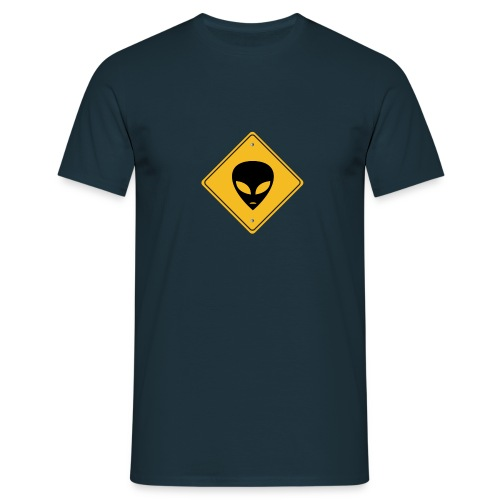 Extraterrestre - Panneau de signalisation - T-shirt Homme