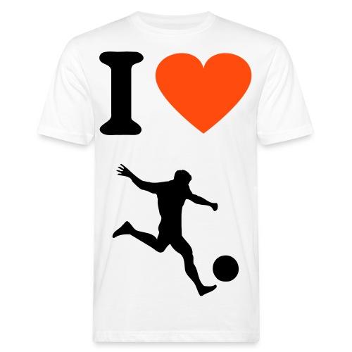 T-Shirt : I Love Fußball - Männer Bio-T-Shirt