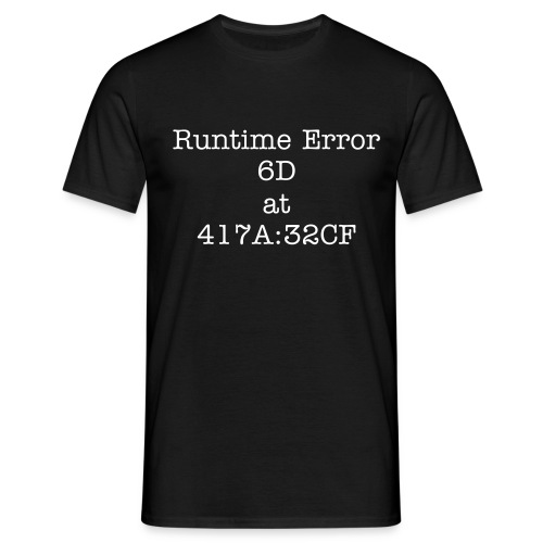 Runtime error - Men's T-Shirt