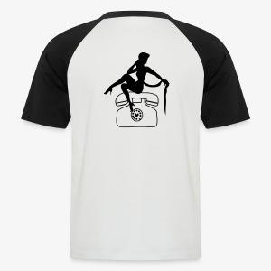 Vintage pin up call girl - Men's Baseball T-Shirt
