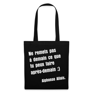 Sac de toile citation Alphone Allais - Tote Bag