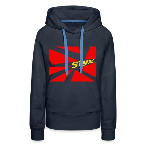 ♀ STYX: Blau // Hoodie: Rot| STYX - Frauen Premium Hoodie