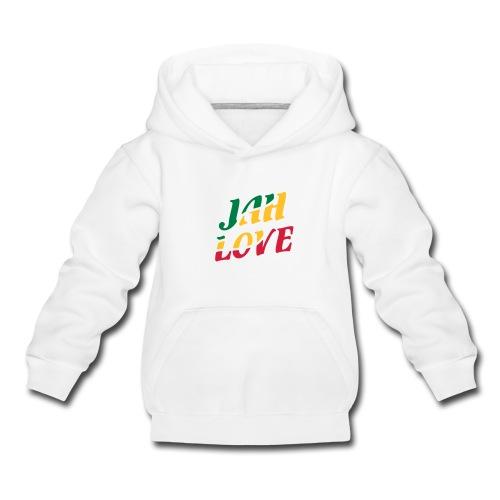 weisser Reggae Kinder-Kapuzenpullover Jah Love - Kinder Premium Hoodie